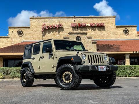 2018 Jeep Wrangler JK Unlimited for sale at Jerrys Auto Sales in San Benito TX