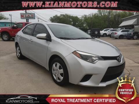 2014 Toyota Corolla L for sale at KIAN MOTORS INC in Denton TX