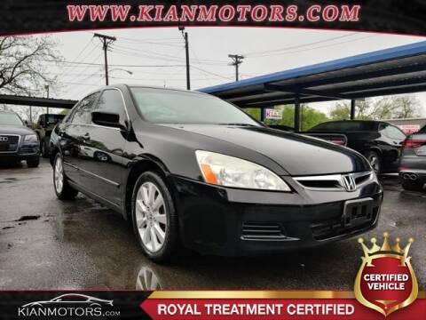 2007 Honda Accord Special Edition V-6 for sale at KIAN MOTORS INC in Denton TX