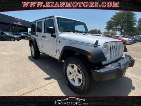 2018 Jeep Wrangler JK Unlimited for sale at KIAN MOTORS INC in Denton TX