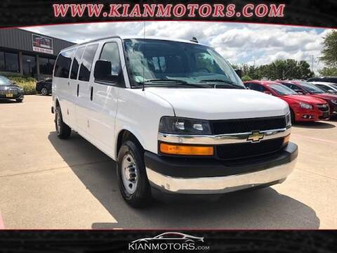 2017 Chevrolet Express Passenger for sale at KIAN MOTORS INC in Denton TX