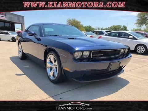 2013 Dodge Challenger for sale at KIAN MOTORS INC in Denton TX