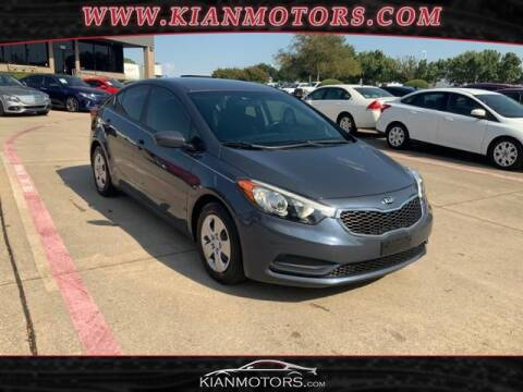 2016 Kia Forte for sale at KIAN MOTORS INC in Denton TX