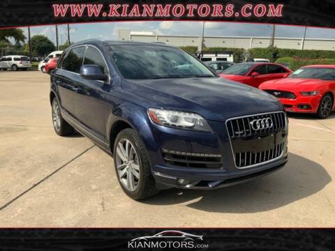 2015 Audi Q7 for sale at KIAN MOTORS INC in Denton TX