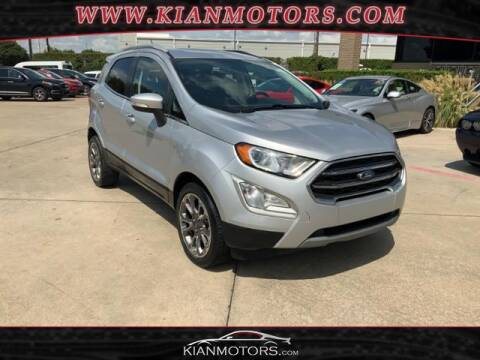 2019 Ford EcoSport for sale at KIAN MOTORS INC in Denton TX