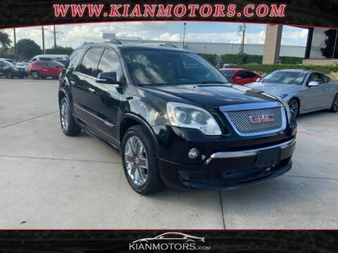2012 GMC Acadia for sale at KIAN MOTORS INC in Denton TX