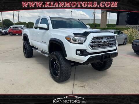 2016 Toyota Tacoma for sale at KIAN MOTORS INC in Denton TX