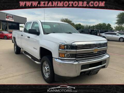 2016 Chevrolet Silverado 2500HD for sale at KIAN MOTORS INC in Denton TX