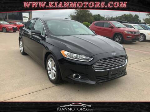 2016 Ford Fusion for sale at KIAN MOTORS INC in Denton TX