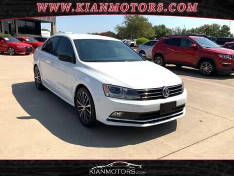 2016 Volkswagen Jetta for sale at KIAN MOTORS INC in Denton TX