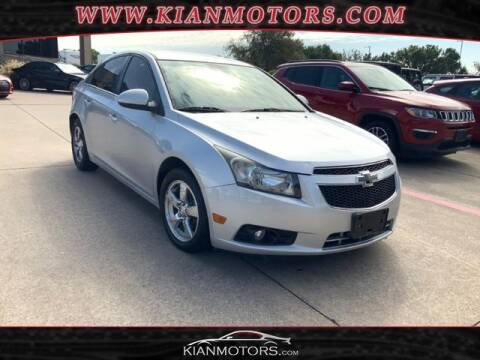 2013 Chevrolet Cruze for sale at KIAN MOTORS INC in Denton TX