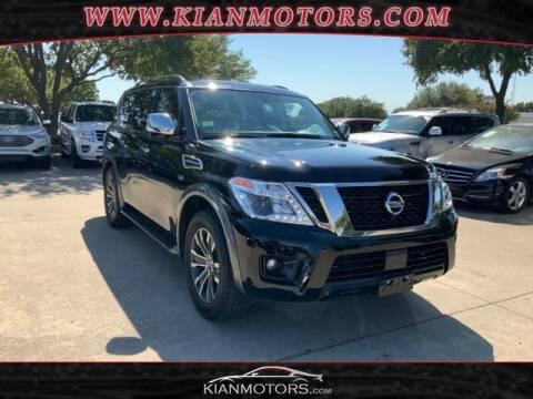 2020 Nissan Armada for sale at KIAN MOTORS INC in Denton TX