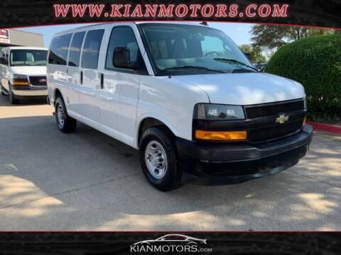 2018 Chevrolet Express Passenger for sale at KIAN MOTORS INC in Denton TX