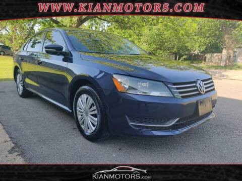2014 Volkswagen Passat for sale at KIAN MOTORS INC in Denton TX