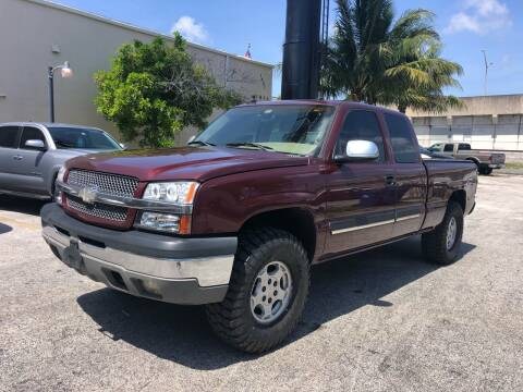 2003 Chevrolet Silverado 1500 for sale at Florida Cool Cars in Fort Lauderdale FL