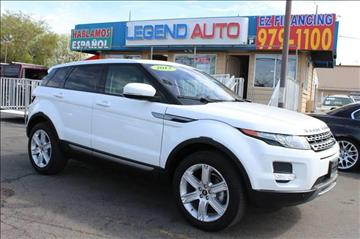 2013 Land Rover Range Rover Evoque for sale at Sac Truck Depot in Sacramento CA