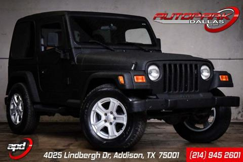 2001 Jeep Wrangler for sale in Addison, TX