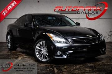 2014 Infiniti Q60 Coupe for sale in Addison, TX