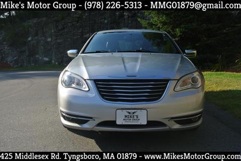 2011 Chrysler 200 for sale in Tyngsboro, MA