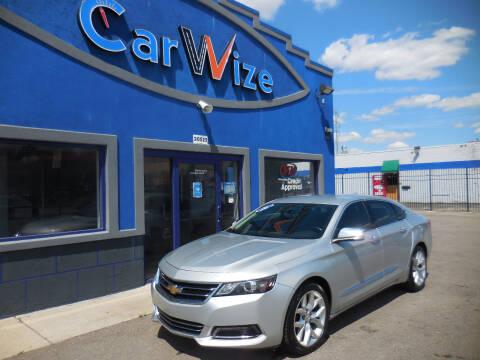 2016 Chevrolet Impala for sale at Carwize in Detroit MI