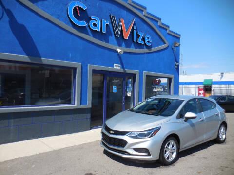 2017 Chevrolet Cruze for sale at Carwize in Detroit MI