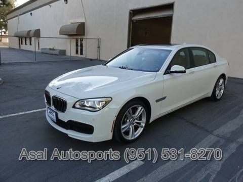 2014 BMW 7 Series for sale at ASAL AUTOSPORTS in Corona CA