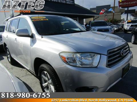 2009 toyota highlander for sale in california for Aztec motors north hollywood