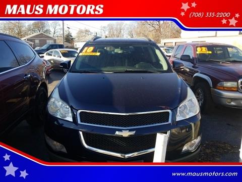 2010 Chevrolet Traverse for sale at MAUS MOTORS in Hazel Crest IL