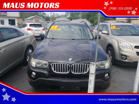 2008 BMW X3 for sale at MAUS MOTORS in Hazel Crest IL