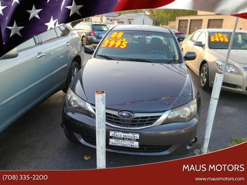 2008 Subaru Impreza for sale at MAUS MOTORS in Hazel Crest IL