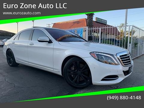 2014 Mercedes-Benz S-Class for sale at Euro Zone Auto in Stanton CA