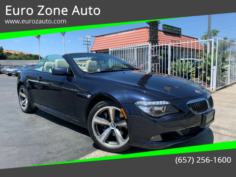 2008 BMW 6 Series for sale at Euro Zone Auto in Stanton CA