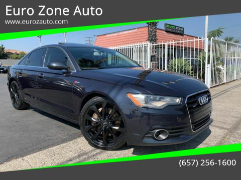2013 Audi A6 for sale at Euro Zone Auto in Stanton CA