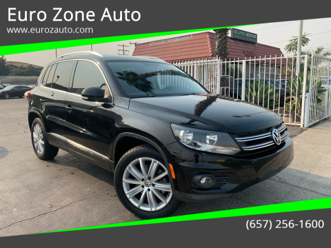 2012 Volkswagen Tiguan for sale at Euro Zone Auto in Stanton CA