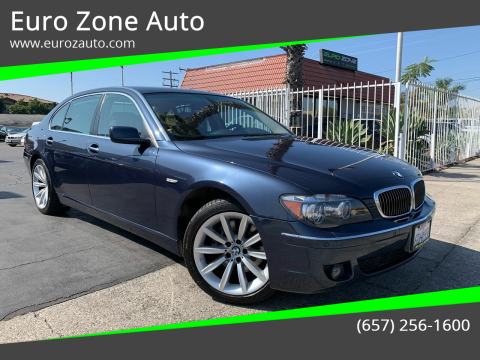 2008 BMW 7 Series for sale at Euro Zone Auto in Stanton CA