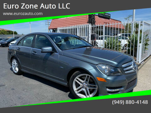 2012 Mercedes-Benz C-Class for sale at Euro Zone Auto in Stanton CA