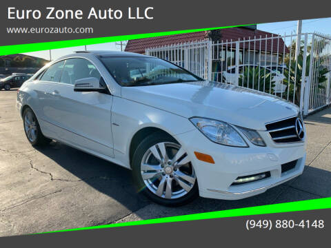 2012 Mercedes-Benz E-Class for sale at Euro Zone Auto in Stanton CA