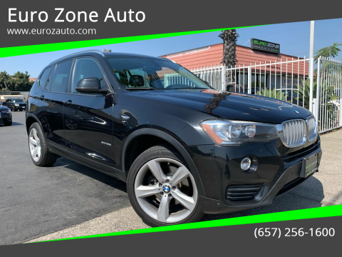 2017 BMW X3 for sale at Euro Zone Auto in Stanton CA
