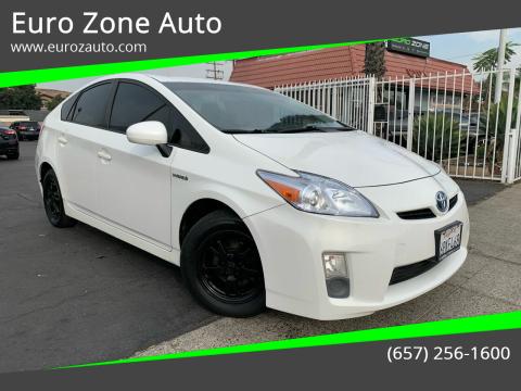 2010 Toyota Prius for sale at Euro Zone Auto in Stanton CA