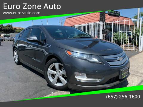 2013 Chevrolet Volt for sale at Euro Zone Auto in Stanton CA