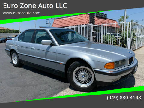 1998 BMW 7 Series for sale at Euro Zone Auto in Stanton CA
