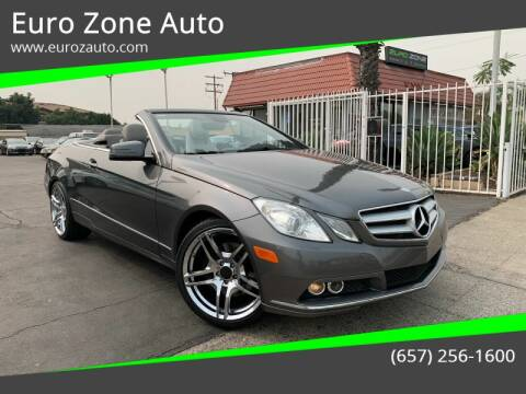 2011 Mercedes-Benz E-Class for sale at Euro Zone Auto in Stanton CA