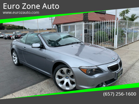 2006 BMW 6 Series for sale at Euro Zone Auto in Stanton CA