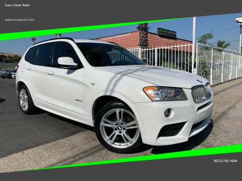 2014 BMW X3 for sale at Euro Zone Auto in Stanton CA