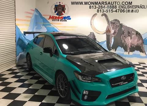 2015 Subaru WRX for sale at Monmars Auto Club in Tampa FL