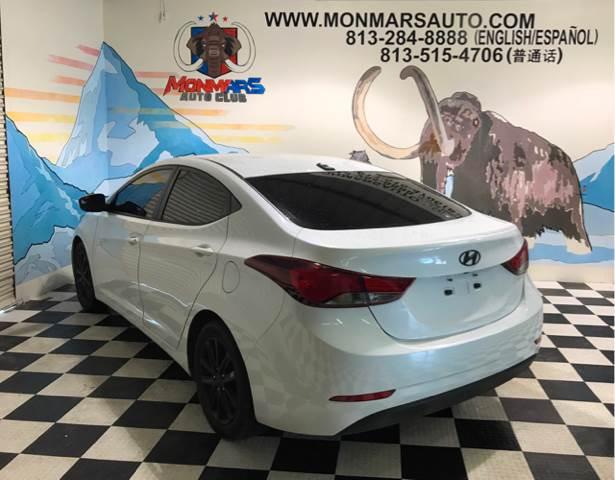 2016 Hyundai Elantra for sale at Monmars Auto Club in Tampa FL