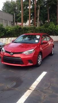2015 Toyota Corolla for sale at Monmars Auto Club of Atlanta in Marietta GA