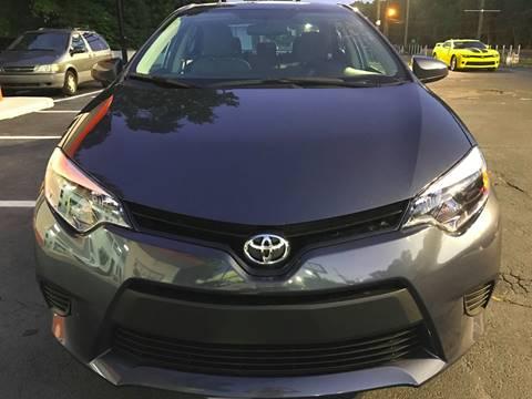 2016 Toyota Corolla for sale at Monmars Auto Club of Atlanta in Marietta GA