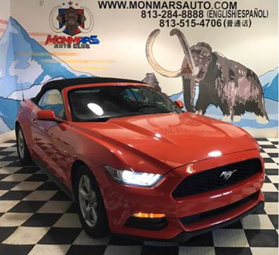 2016 Ford Mustang for sale at Monmars Auto Club in Tampa FL