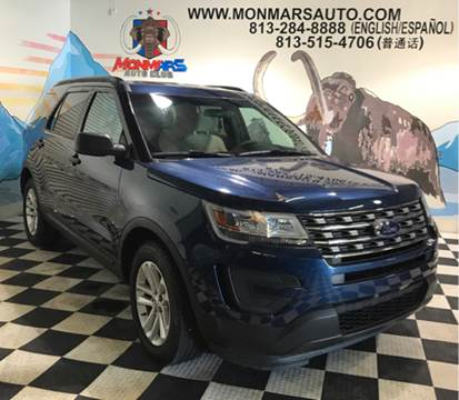 2016 Ford Explorer for sale at Monmars Auto Club in Tampa FL